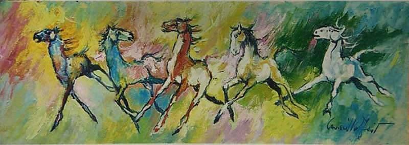 Cavalli in Brughiera