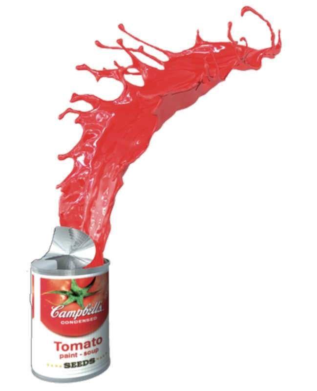 Tomato paint soup