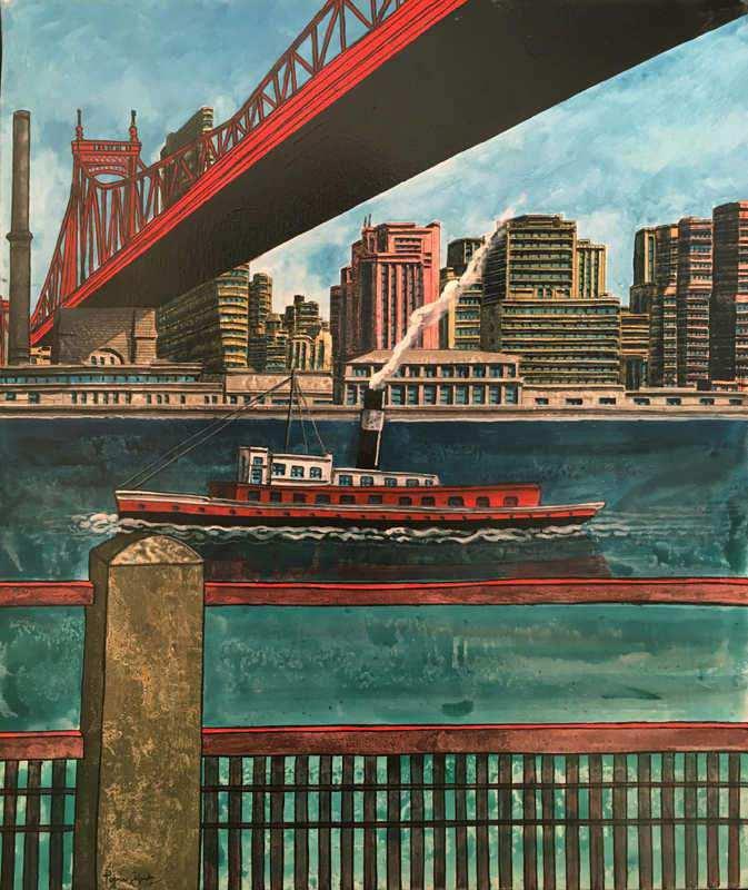 Battello sull'East River