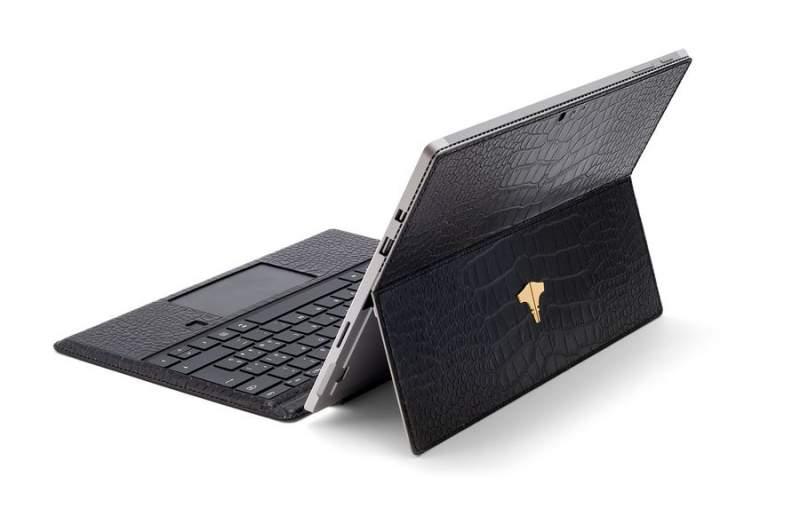 PC Tablet & Crocodile Printed Black