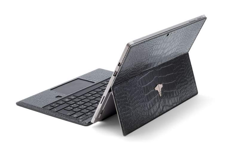 PC Tablet & Real Crocodile Grey