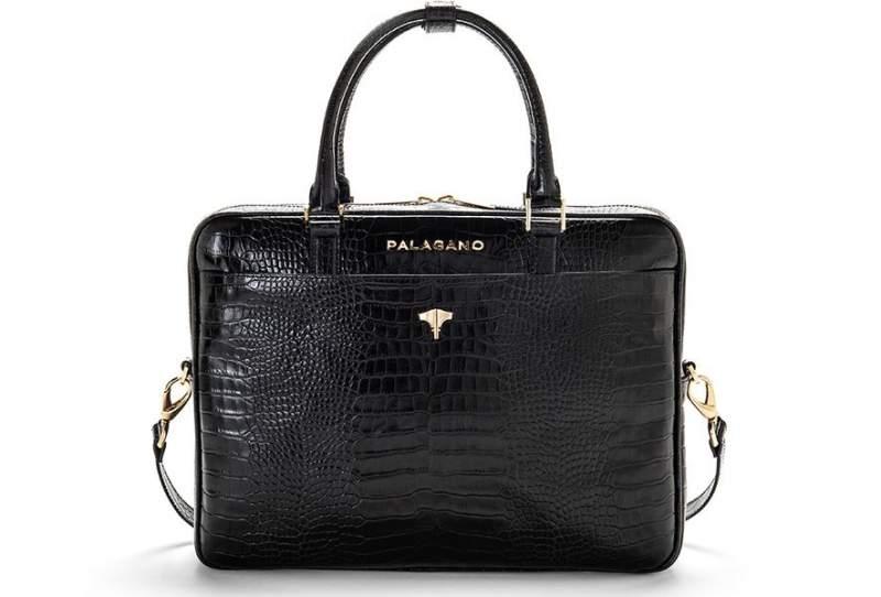 Briefcase Real Crocodile Black