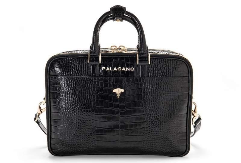 Briefcase Brera Real Crocodile Black