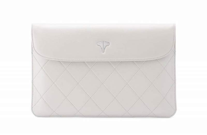 Tablet Bag Real Leather Warm White