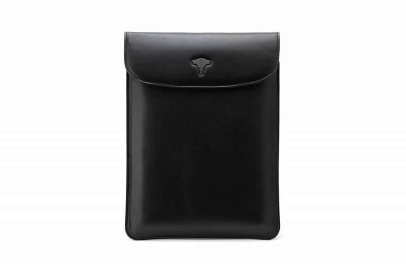 Tablet Bag Real Leather Black