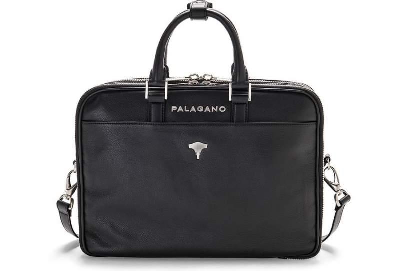 Briefcase Brera Real Leather Black